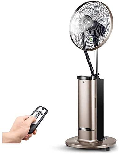 Ventilador montado en la pared oscilante Ventilador de niebla oscilante con control remoto, ventilador de spray de pedestal con tiempo largo, humidificador de pie de niebla fresca, para enfriar su áre