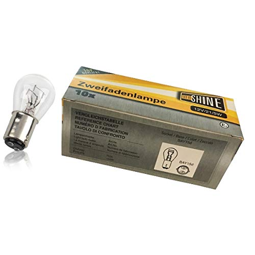 Let it Shine 90046PB tweedraads lamp P21/5W papier doos 10 stuks, doorzichtig, 5.3 x 13 x 5.3 cm