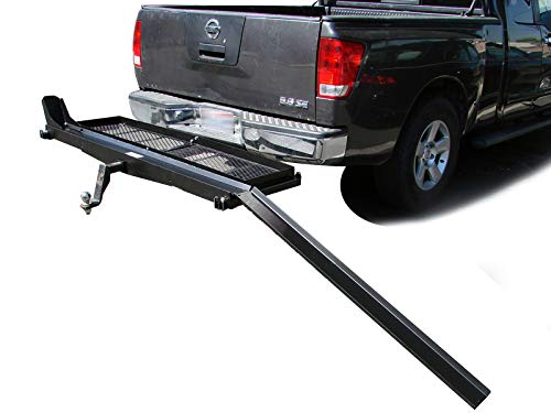 WMA 1000 lb Dirt Bike Scooter Motorcycle Tow Hitch Carrier Rack Trailer with Storage Cargo Shelfs w/ 2