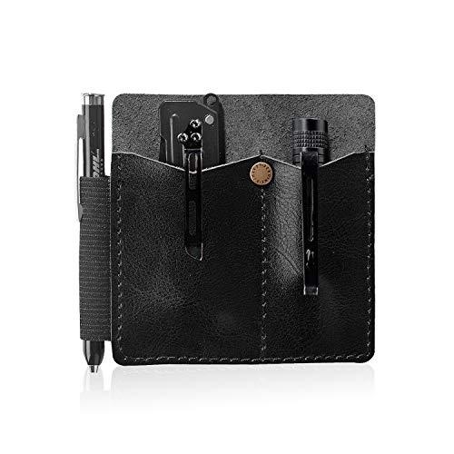 CRIPOP EDC Organizer-Tasche für Messer, Stifte, Taschenlampe, Typ A, Typ B, 022_13, B Type Oil Wax Schwarz
