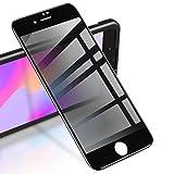 """RIWNNI [2 Pezzi] Privacy Vetro Temperato per iPhone 8 Plus/7 Plus, Anti-Spy Pellicola Protettiva Copertura Completa Protezione Schermo [Cornice di Allineamento] per iPhone 8 Plus/7 Plus 5.5"""" - Nero"""