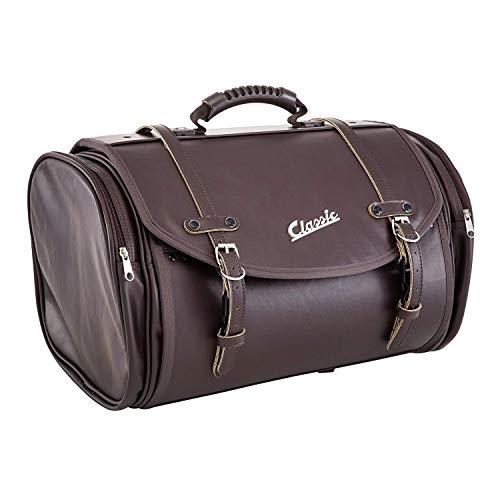 Tasche/Koffer SIP Classic, groß, für Gepäckträger, 480x300x270 mm, ca. 35 Liter, Echt-Leder Imitat, braun