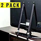 TV and Furniture Anti-Tip Straps Heavy Duty Strap and All Metal Parts | All Flat Screen TV/Furniture Mounting Hardware Included | No Plastic Parts (2 Pack, Black) by Secure Home by Jessa Leona