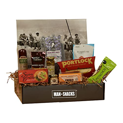 ManSnacks - WINE SNACKS - A Manly Assortment Of Food And Gear For The Wine Lover, All Packed In A Fun, Manly Gift Box. It's A Gift Basket For Real Men.