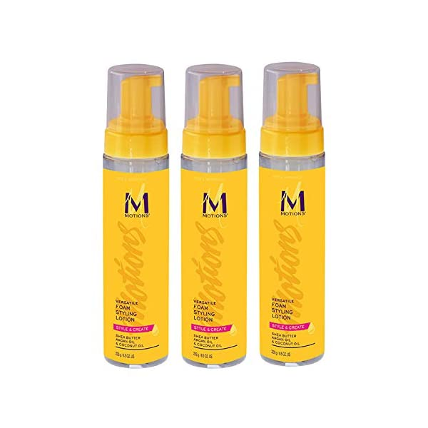 Beauty Shopping Motions Style and Create Versatile Foam Styling Lotion (3 Pack) – For Use on