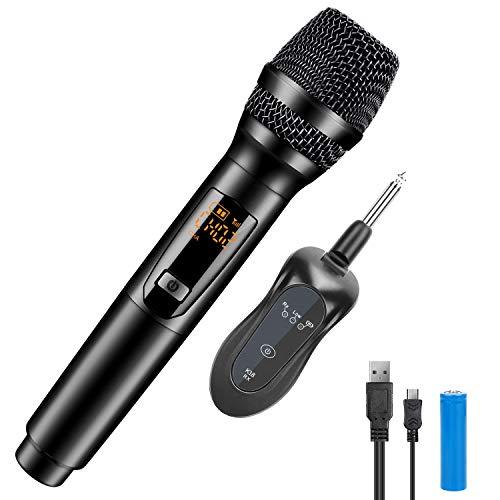 Micrófono Gifort, Receptor de FM, Dispositivo Profesional de 10 canales, Para Iglesia/Inicio/Karaoke/Reunión de negocios