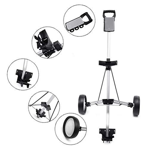 MROSW Golftrolley mit 2 Rädern, klappbar, für Golf-Liebhaber