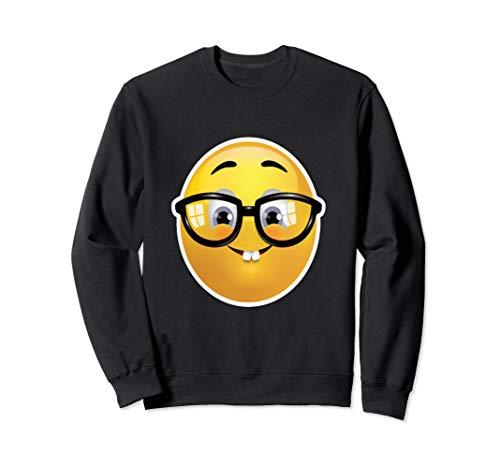 Emoji Aussenseiter-Sonderling Dorky Aussenseiter heraus Glas Sweatshirt