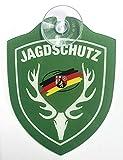 Einsatzschild für Windschutzscheibe, inkl. Saugnapf – Jagdschutz, Rheinland-Pfalz