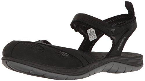 Merrell Women's Siren WRAP Q2 Athletic Sandal, Black, 9 M US