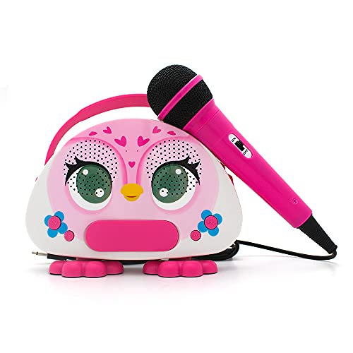 Kids Karaoke Machine with Microphone for Toddler Girls Boys Bluetooth Children Karaoke Speaker for Singing Portable Kids Sing Along Music Machine for Birthday Gift