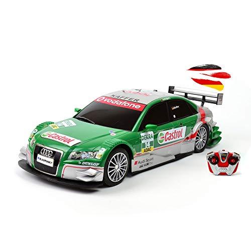 RC ferngesteuertes Fahrzeug im original Lizenz kompatibel mit Audi A4 DTM Rallye-Design, Modell-BAU Auto, Car mit LED-Beleuchtung im Maßstab 1:16 inkl. Fernsteuerung