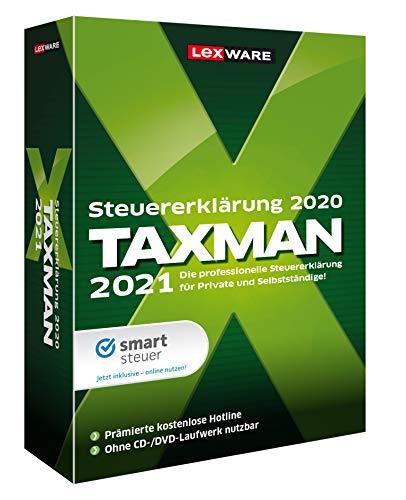 Lexware Taxman 2021 für das Steuerjahr 2020|Minibox|Übersichtliche Steuererklärungs-Software für Arbeitnehmer, Familien, Studenten und im Ausland Beschäftigte|Standard|1|1 Jahr|PC|Disc