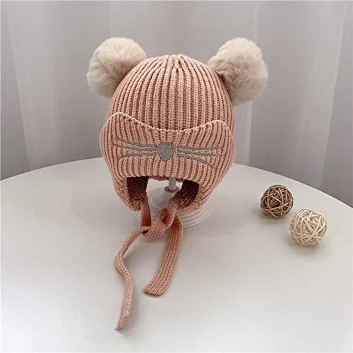 HGDD Sombrero de cálido Infantil Bebé otoño oído Sombrero del bebé y Gorro de Lana de Invierno Preciosos bebés Varones y niñas Sombrero de Invierno for Mantener el Calor en Invierno al Aire Libre