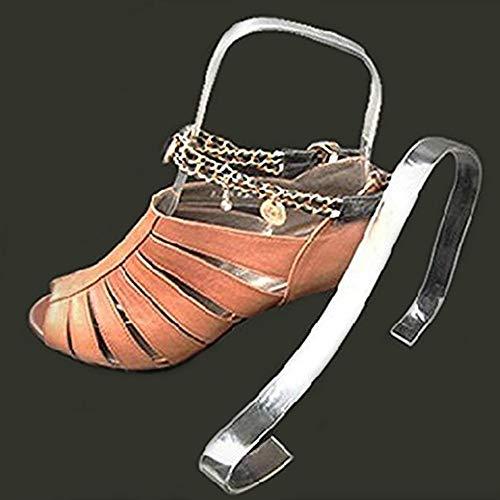 Schoenen displaystandaard, doorzichtige acryl sandalen Schoenenplanksteun Tafelrekhouder Plankorganizer voor hoofdwinkelbalie