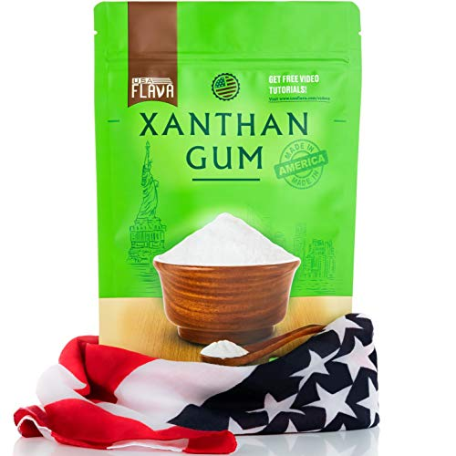 Made in USA Xanthan Gum (8 oz), Premium Quality, Food Grade Thickener, Non GMO, Gluten Free, Use in Cooking, Baking, Sauces, Soups and more. Suitable for Vegetarian, Kosher & Halal. Use for Keto Diet
