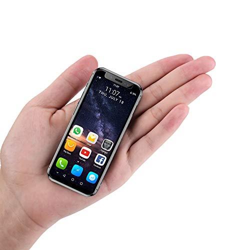 Unlocked Mini Smartphone, 3.5 Inch The World's Smallest Cell Phone 3G Network Premium Child Phone Quad Core 2+16GB Dual SIM Small Phone (Black)