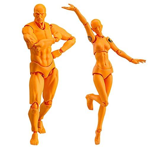 VELIHOME Conjunto de 2 peças/conjunto leve Chan & Kun PVC movebale masculino e feminino figura de ação pintura Figuarts decoração de casa ótimo presente