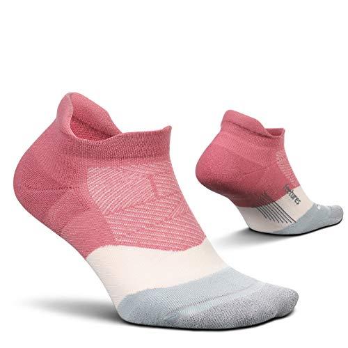 Feetures Elite Max Cushion No Show Tab Running Sock (Polychrome Pink, MEDIUM)