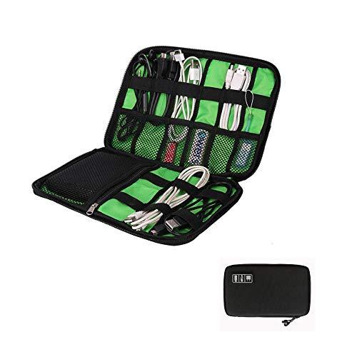 Kaptin Elektronische Organisator, Travel Gear Organizer Elektronica Accessoires Tas, Kabel-Opbergtas Kleine Gadget Draagtas voor het opladen kabel, Mobiele telefoon, USB Flash Drive, SD-geheugenkaarten, Zwart