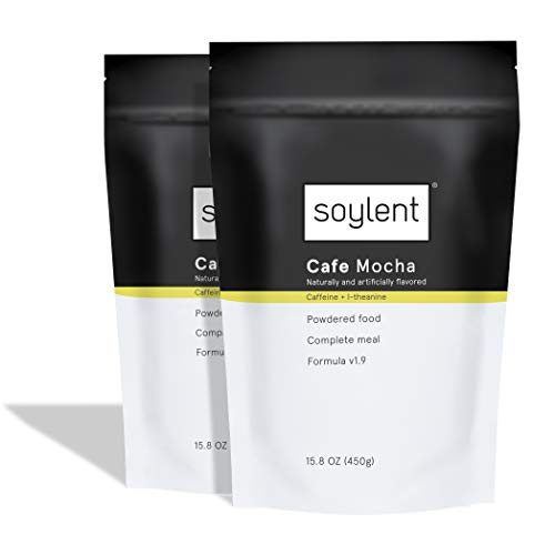 Soylent Cafe Mocha Meal Replacement Powder / Protein Powder, 2 Count Pouch, 15.8 Ounce (Pack of 2)