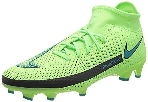 Nike Unisex Phantom GT Academy Dynamic Fit MG Soccer Shoe, Lime Glow/Aquamarine, 45 EU