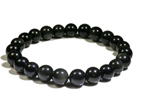 Bracelet obsidienne oeil céleste (boules 8mm)