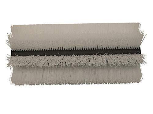 partmax® Bürstenwalze für Echo ER Piccobello, Poly 0,7 mm gewellt weiß, Walze, Walzenbürste, Kehrwalze