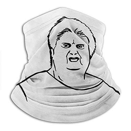 Face Cover Neck Warmer Humor UPF 50+ UV Protection Neck Gaiter Chubby Guy Meme Fat Angry Facial Expression Display Internet Character Print Walking, Running, Neck Gaiter Black and White 10x11.6 Inch