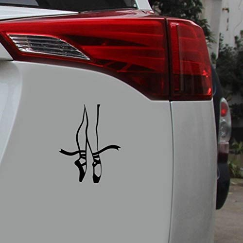 Coche Pegatina 13.5Cmx17Cm Ballet Pointes Bailarina Danza Pose Piernas Parachoques del coche Pegatinas de decoración del maletero Calcomanías creativas para el coche portátil etiqueta de la ventana