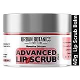 UrbanBotanics® Advanced Lip Scrub Balm - Lightening and Brightening Dark Lips - Lip Scrub For Women & Men Smoker/Dry/Chapped Lip Care, 40 Grams