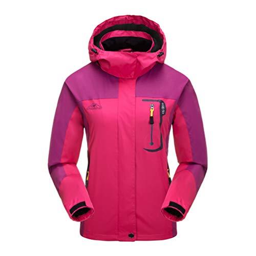 JOGERBRO Womens Waterproof Rain Jacket with Hood Outdoor Raincoat for Hiking