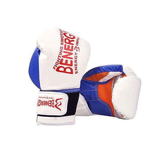 Ziyi Guantes de Boxeo para Entrenamiento y Muay Thai Mitones del Cuero...