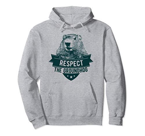Respektiere das Murmeltier Pullover Hoodie