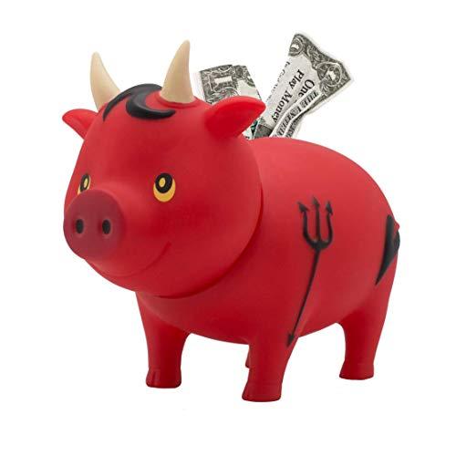 LILALU Spardose BIGGYS Teufel, Sparschwein Kopf drehbar Sparbox Sparbüchse Münzeinwurf Piggy Bank Tresor Kinder