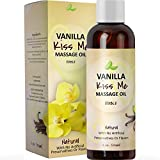 Vanilla Erotic Massage Oil for Sex Edible Massage Oil and Lubricant for Sensual Massage and Natural Calm Aromatherapy Almond Jojoba and Coconut Oil Anti-Aging Moisturizing Skin Care & Back Pain Relief