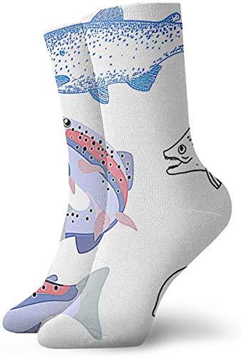 shizh Mariposas en el césped con margaritas Ocio Calcetines de algodón Calcetines deportivos para hombres y mujeres