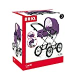BRIO 10299 Poussette pour poupée Premium Combi Violet (avec sac inclus)
