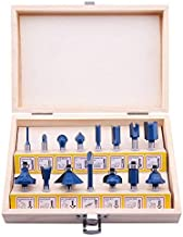 LU&MN Carbide Tipped Router Bits (15 PCS) With 1/4