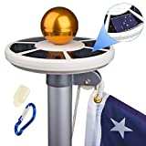 GENCH Waterproof 42 LED Solar Flagpole Light Solar Power Flag Pole Light Energy Saving Long-Lasting Night Light for Most 15 to 25 Ft Flag Pole White