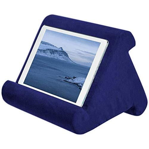 Linghuang Tablet Pillow Pad Pillow Stand Book Rest Tablet Sofa, Supporto per Laptop, Mini Pad Holder per Computer per Kindle, iPad Air, Tablet, E-Readers, Smartphone (Zaffiro)