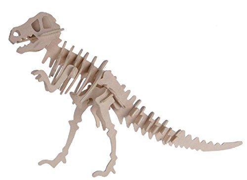Out of the blue - Puzzle Bois 3D Tyrannosaurus – 12 x 30 cm