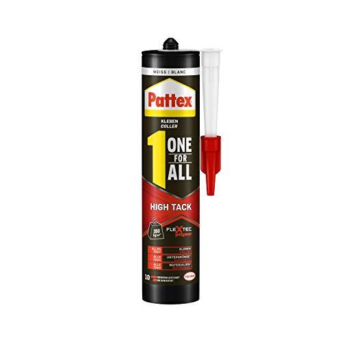 Pattex One For All High Tack, hochqualitativer Montagekleber, starker Kleber für alle Untergründe, flexibler und kraftvoller Alleskleber, 1 x 440g Kartusche