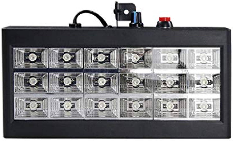 Bühnenlampe Blitzlicht 18LED Disco Lights Ton Aktivieren Sie RGB-Vollfarb-Mischprojektionslicht Bühnenlampen