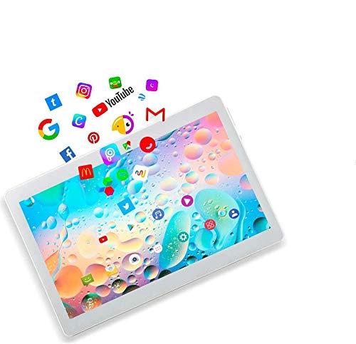 Deca core 10.1' Inch Tablet TYD Android 10, 4G LTE Dual SIM,4GB RAM 64GB Storage, 1920 * 1200 Full HD IPS Touchscreen,Dual camera, WiFi/WLAN/Bluetooth/GPS TYD-109 (Silver)