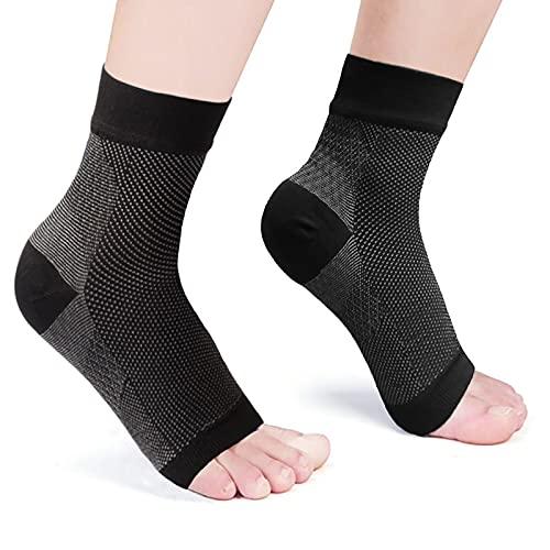 Tobillera deportiva para hombre y mujer, alivia el espolón calcáneo, la fascitis plantar y el dolor del pie, calcetines de compresión para fútbol y fitness