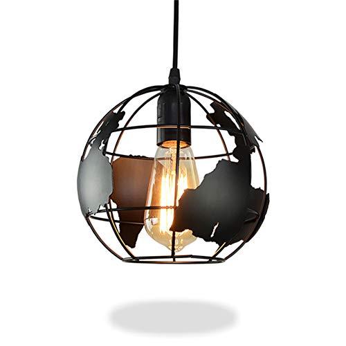 Pendelleuchte Lampe Industrielle Erde Geformt Globus Moderne Deckenleuchte Leuchte Schatten Kronleuchter Eisen Vintage Hängende Deckenleuchte E27 (Durchmesser 28cm)