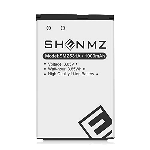 LG LGIP-531A Battery,SHENMZ Upgraded 1000mAh Replacement Battery for LG KF310, KU250, UN200,Compatible with LG Part Number: LG-IP531 / LGIP-531A SBPL0090501 / SBPL0090503