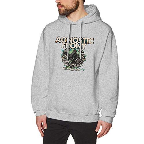 Homme Sweats à Capuche, Sweat-Shirt à Capuche, Agnostic Front Men's Hoodie Sweatshirt Heavyweight Casual Long Sleeve Tshirt