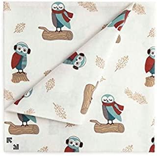jcp home 100% Cotton Heavyweight Flannel Sheet Set Owls Size Twin
